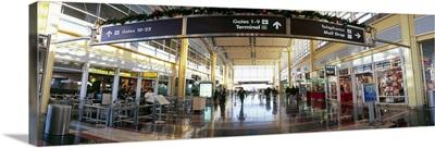 Sign board at an airport, Ronald Reagan Washington National Airport, Washington DC