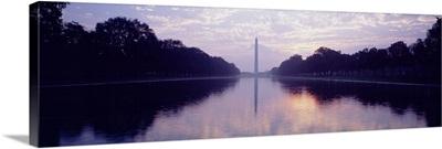 Silhouette of a monument, Washington Monument, Washington DC