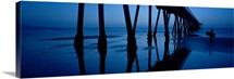 Silhouette of a pier, Hermosa Beach Pier, Hermosa Beach, California