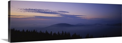 Silhouette of mountain at dusk, Mount Equinox, Manchester, Vermont, New England