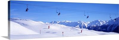 Ski Lift in Mountains Switzerland