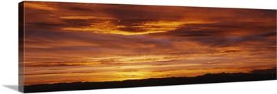 Sky at sunset, Daniels Park, Denver, Colorado