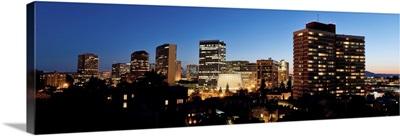 Skyline at dusk, Oakland, California, USA