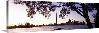 Skyline CN Tower Skydome Toronto Ontario Canada