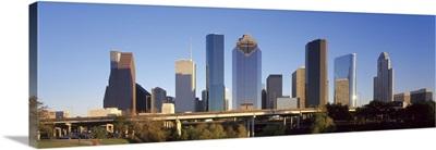 Skyscrapers against blue sky Houston Texas