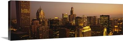 Skyscrapers in a city, Chicago, Illinois
