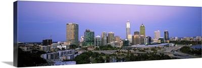 Skyscrapers in a city, Perth, Western Australia, Australia