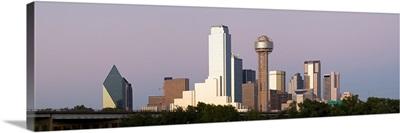 Skyscrapers in a city, Reunion Tower, Dallas, Texas,