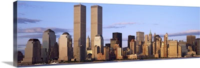 Skyscrapers in a city World Trade Center Manhattan New York City New York State
