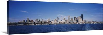 Skyscrapers on the waterfront, Elliott Bay, Seattle, Washington DC
