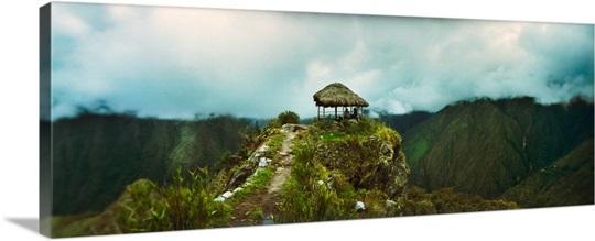 Small Hut On A Mountain Top Machu Picchu Cusco Region Peru Wall Art