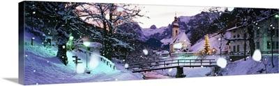 Snow Rothenburg Germany