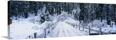 Snowy Bridge Lake Tahoe CA