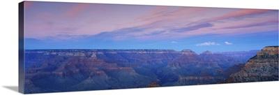 South rim of the Grand Canyon at Mather Point at sunset, Arizona