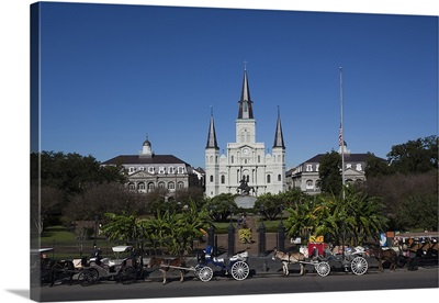St. Louis Cathedral, Jackson Square, French Quarter, New Orleans, Louisiana