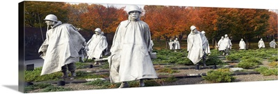 Statues of army soldiers in a park, Korean War Memorial, Washington DC