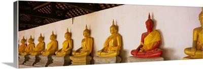 Statues of Buddha in a temple, Wat Phutthaisawan, Ayuthaya, Thailand
