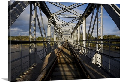 Steel Railway Bridge over the River barrow to Great Island Power Station