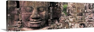 Stone Faces Bayon Angkor Siem Reap Cambodia
