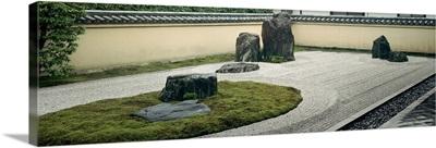 Stones in a garden, Zen Garden, Ryogen-In Temple, Kyoto Prefecture, Honshu, Japan
