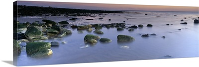 Stones In Frozen Water, Flamborough, Yorkshire, England, United Kingdom