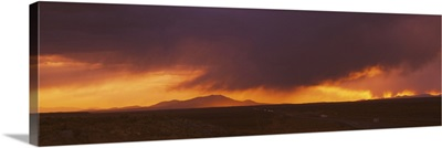 Storm clouds in the sky, Interstate 80, Elko County, Nevada