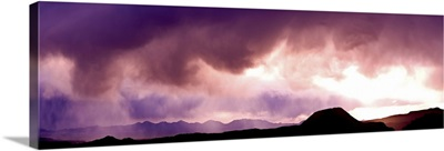 Storm clouds over mountains, Sonoran Desert, Arizona