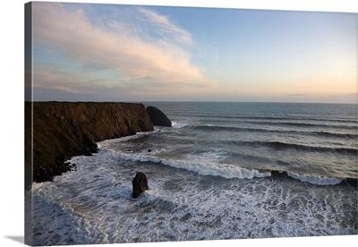 Stormy Ballydowane Cove, The Copper Coast, County Waterford, Ireland