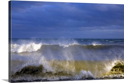 Stormy Seas at Ballydowane Cove, Copper Coast, County Waterford, Ireland
