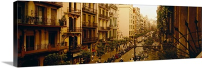 Street Scene Barcelona Spain