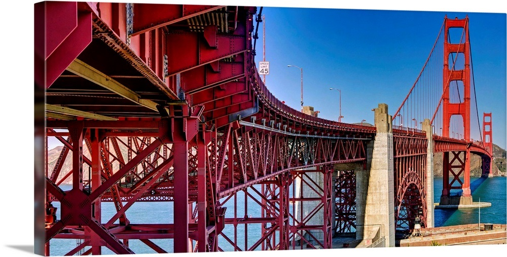 Structural Supports For The Bridge Golden Gate San Francisco California