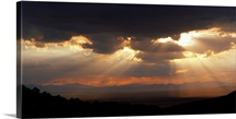 Sunbeams over desert Chiricahua National Monument Arizona