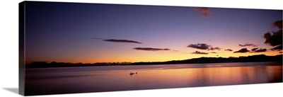 Sundown Lake Taupo North Island New Zealand
