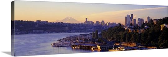 Sunrise Lake Union Seattle Washington