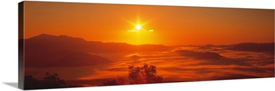Sunrise Mt Taisetsu National Park Hokkaido Japan