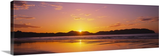 Sunrise Over Hills Samara Beach Guanacaste Province Costa Rica