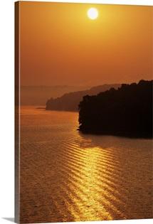 Sunrise Over Lake Tenkiller