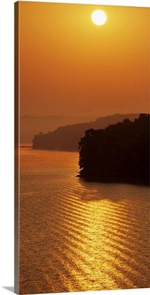 Sunrise Over Lake Tenkiller Oklahoma