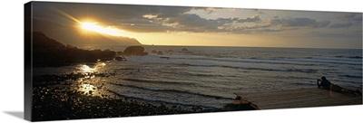 Sunrise over the sea, Porto Moniz, Madeira, Portugal