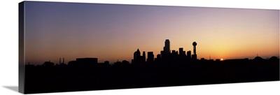 Sunrise Skyline Dallas TX USA