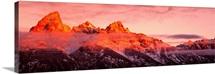 Sunrise Teton Range Grand Teton National Park WY