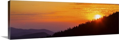 Sunset at Clingmans Dome, Great Smoky Mountains National Park, Tennessee