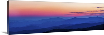 Sunset at Clingmans Dome, Great Smoky Mountains National Park, Tennessee II