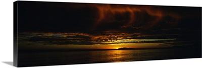 Sunset at Isla Navadad Resort in Manzanillo, Colima, Mexico