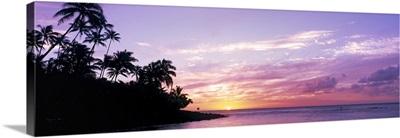 Sunset at Ke'e Beach Kauai HI