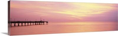 Sunset at Pier Caspersen Beach Venice FL