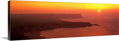 Sunset Benbane Head Antrim Coast Northern Ireland