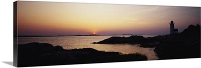 Sunset Cape Ann Lighthouse Gloucester MA