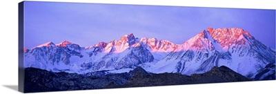 Sunset Glow on Sierra Nevada Mountains California
