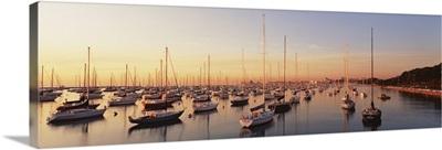 Sunset & harbor Chicago IL